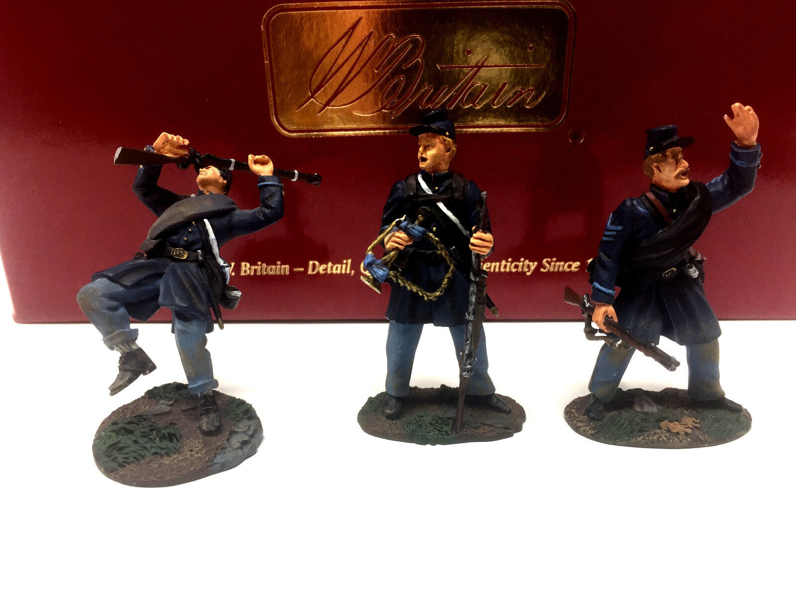 Britains 17664 Civil War Valley Campaign Union Infantry Musician Wounded Set 3pc