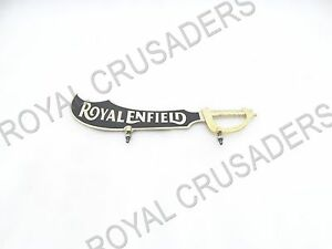 Details about NEW ROYAL ENFIELD BRASS FRONT MUDGUARD NUMBER PLATE (BIG)  #RE177 (CODE-7320)