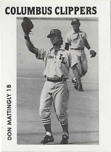 Rookie - Don Mattingly 1984 TCMA Columbus Clippers Minor