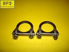 SET OF 2 - 2 Inch Heavy Duty Muffler Clamp - 3/8 U Bolt - Parts Marter 50024