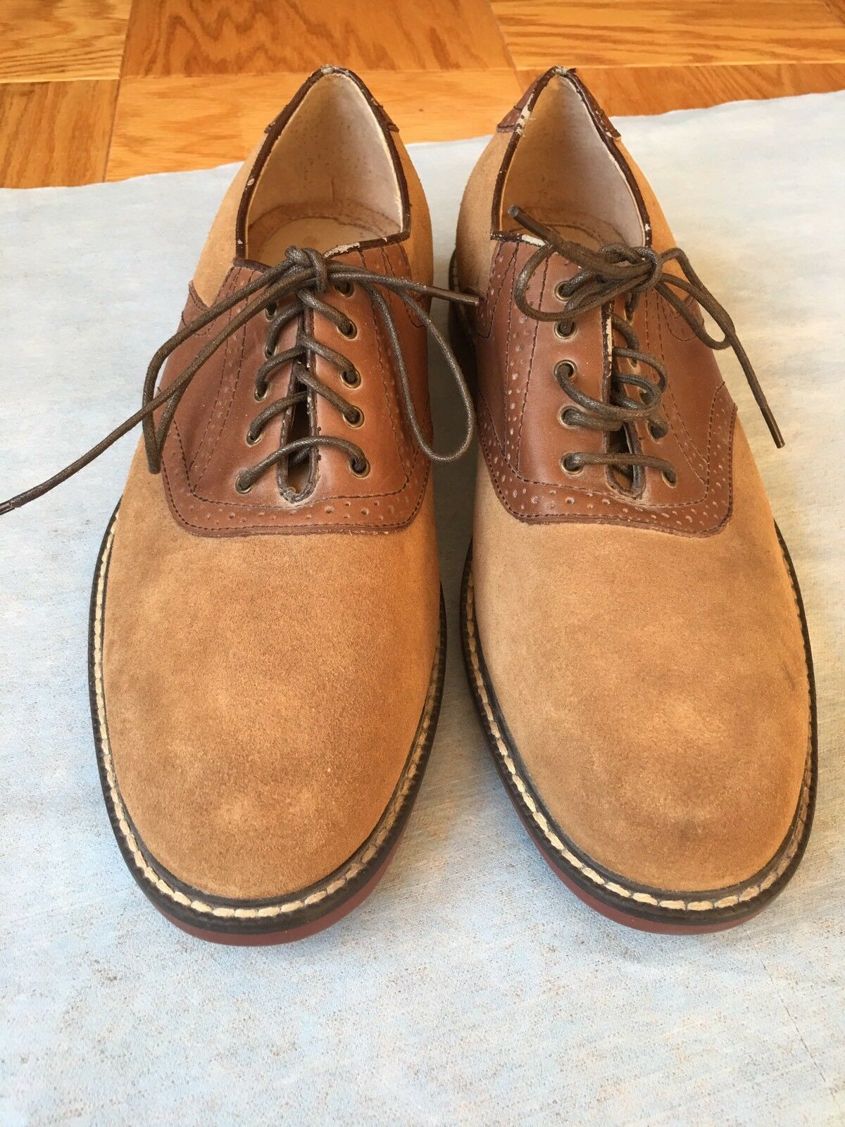 ca7b41b5ad9 Men s 11.5M Bragano Cole Haan Moccasins Loafers Shoes Size 11.5M Men s Brown  Suede Italy N7 1b4000