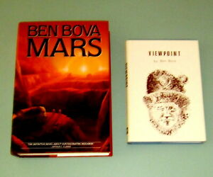 2 Books BEN BOVA VIEWPOINT Ltd First Edition #448 of 800 SIGNED Hugo Award MARS