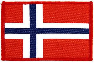 Norwegian-flag-Black-Metal-Patch-Aufnaeher-Norwegen-5x9cm