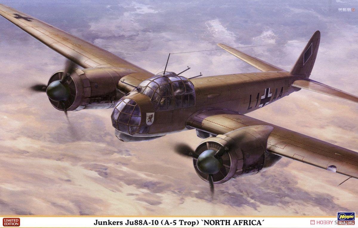 1  48 Hasegawa Junkers Ju88A -10 (A -5Trop) Nordafrika.