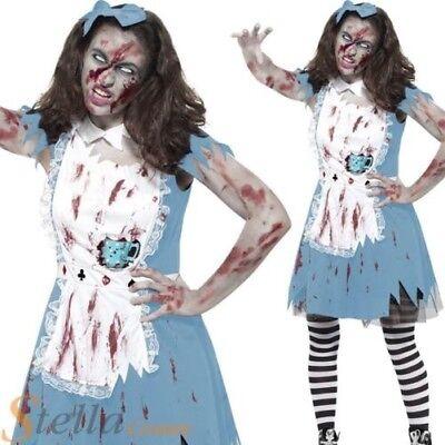 Femelle Adulte Alice Pays des Merveilles robe fantaisie Dressing Up Costume Costume Hen Do NEUF