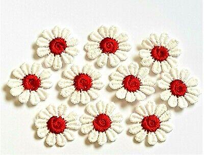 Paquete De 10 Multi Color Pastel Guipur Sew sobre Flores Flor De Recorte De Adorno