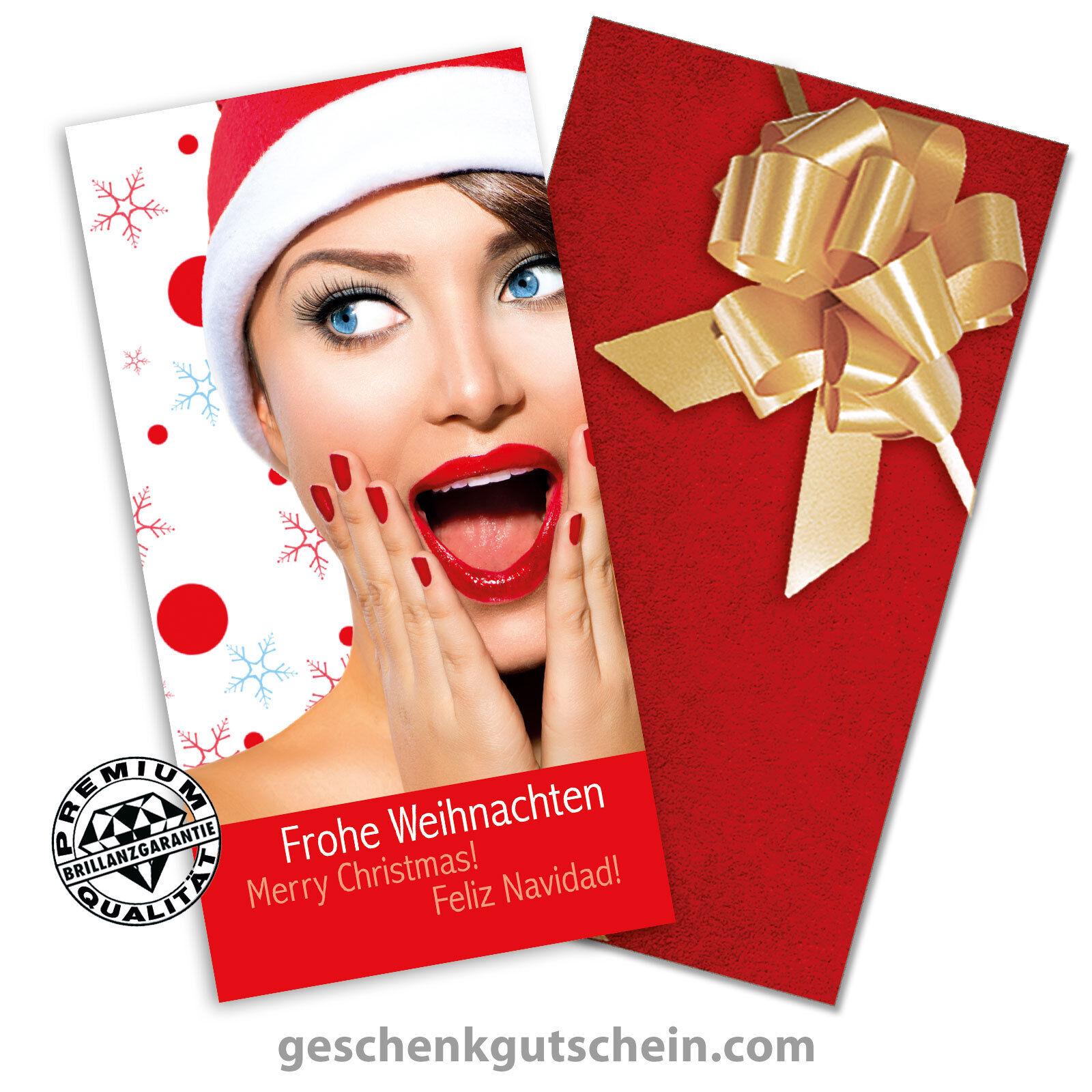 Weihnachtskarten mit KuGrüns und Schleifen für alle Branchen XK271 | Deutschland Outlet  | Genialität