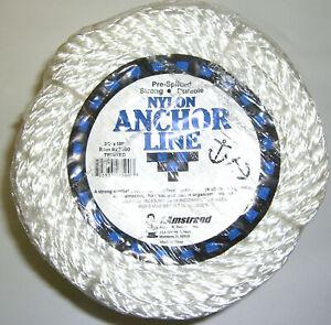 Twisted-Anchor-Rope-1-2-034-x100-039-Feet-Three-Strand-Nylon-Braided-Boat-Line-Dockline