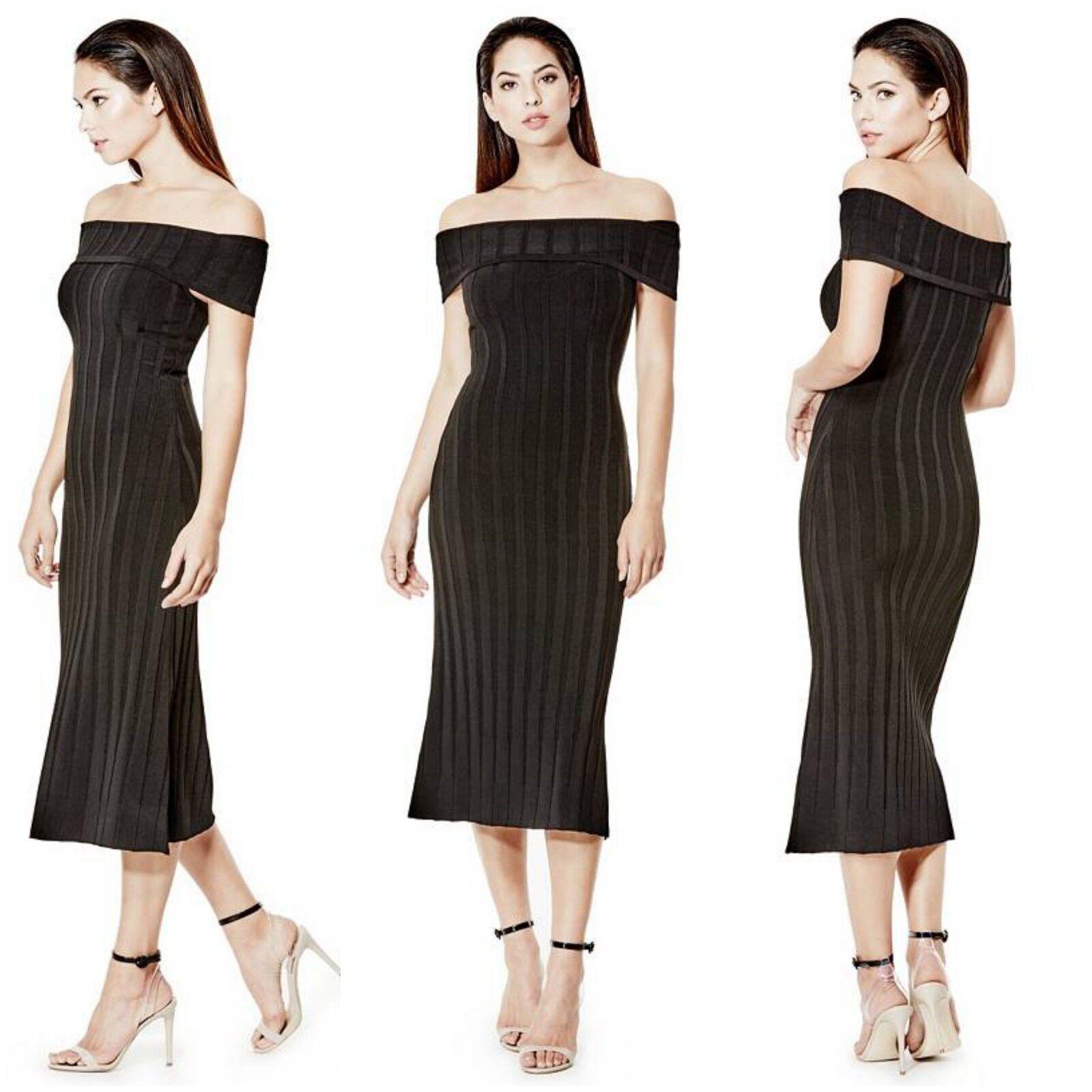 Nuevo con etiquetas Guess Sexy Negro off-the-hombro  Vestido Ajustado Talla Xs  descuento de ventas en línea