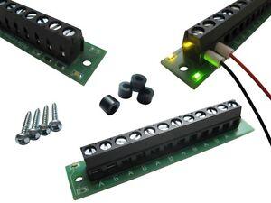 S644 - 10 PEZZI DISTRIBUTORE CORRENTE v2. 0 con Status LED + acc.montaggio