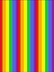 bright colourful rainbow border ribbon strips edible cake topper