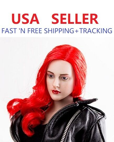 1 6 Scale European American Female RED hair Head sculpt for SUNTAN Phicen