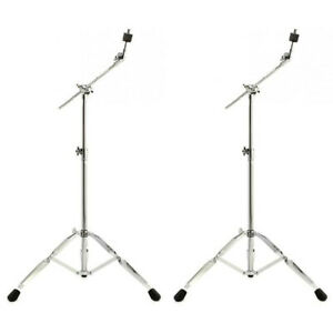 Medium-Duty-700-Series-Cymbal-Boom-Stand-Straight-Stand-Combination-Stand-2-Pack