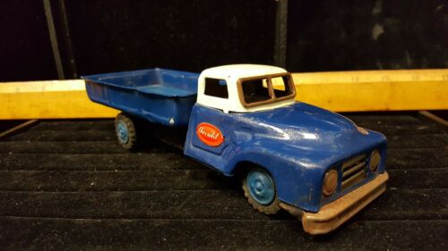 Antique Tin Toy Chevrolet, Blue, unmarked