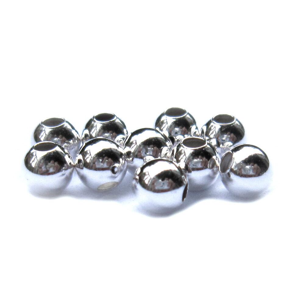 10 x Kugel Ø 5 mm 925 Silber Schmuckzubehör Schmuck basteln Furnituren
