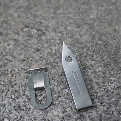 1x EDC Gear Stainless Tweezers Tick Gripper Survival Pocket Kit Keychain RD