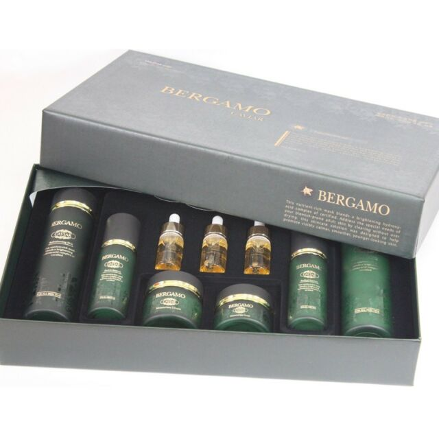 [Korean Cosmetics] BERGAMO CAVIAR PROGRAM SET 9pcs_Anti-Aging_Luxuries Gift Set