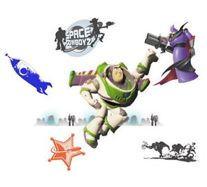Wallables disney toy story buzz lightyear 3d wall decor for Buzz lightyear wall mural