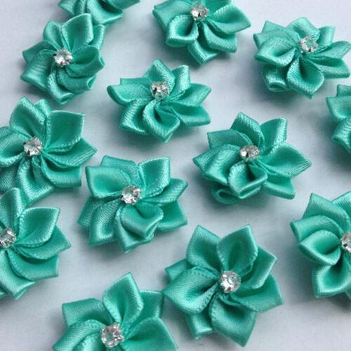 adornos de flores boda decoración manualidades costura Verde con gemas