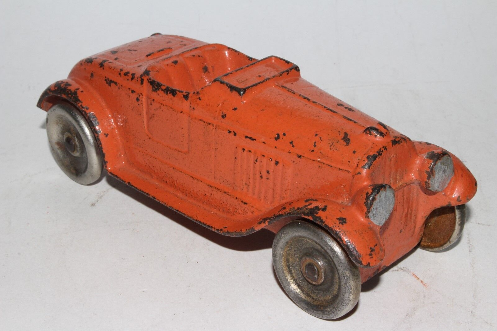 1930's Cast Iron Converdeible Coupe, Original