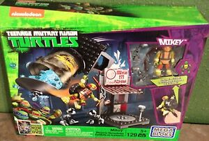 New Nickelodeon Teenage Mutant Ninja Turtles Mega Blocks Pizzeria Hideout Mikey