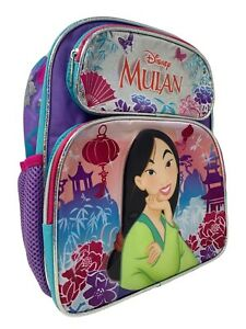 "Mulan Deluxe 12/"" Toddler Size Backpack Plus Lunch Bag Set Disney Princess"