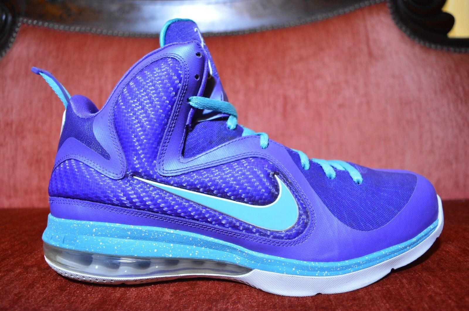 Nike Air Max LEBRON IX 9 SUMMIT LAKE HORNETS PURPLE TURQUOISE BLUE GREEN 12 Comfortable and good-looking