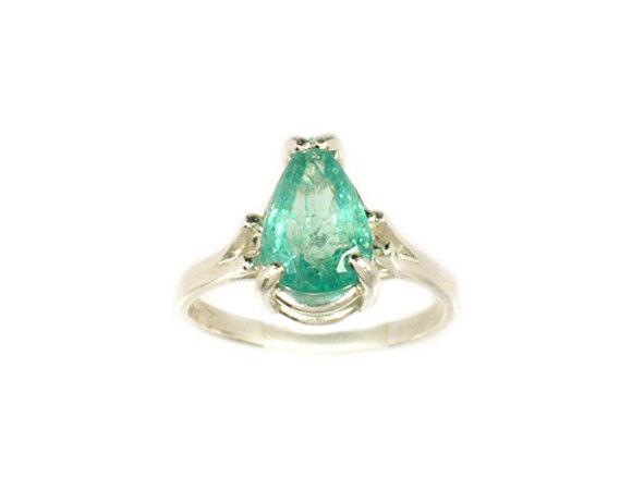19thC Antique 2ct Siberian Emerald Medieval Shaman Magician Prophecy Evil Spirit