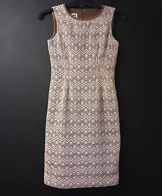 Uk 6 Häkel Bodycon Gefüttert Größe Klein Anne Damen Kleid Stil Beige nN8wOPX0k