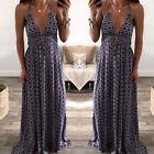 Women's Boho Long Maxi Dress Floral Vintage Summer Evening Party Beach Sundress