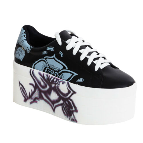 Sneakers donna scarpe ginnastica zeppa platform stringate alte nuove BBJ6008