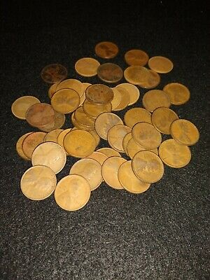 UNSEARCHED WHEAT CENTS LINCOLN PENNIES ROLL✯ESTATE SALE COINS LOT✯1909-58☆ 50 ✯