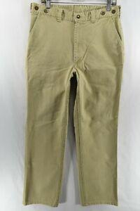 Vintage-Filson-Style-79-Tin-Cloth-USA-Talon-42-Hose-Herren-gr-36-Hellbraun-Mess-33x32