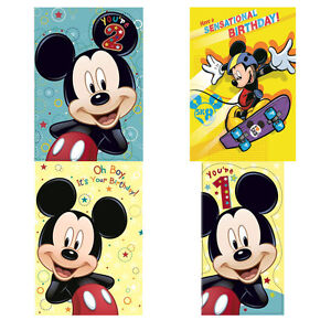 Image Is Loading Mickey Mouse And Friends Birthday Cards Assorted