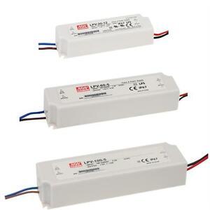 5V 12V 15V 24V 48V MeanWell switching power supplies DR//DRP-series