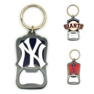 mlb officially licensed bottle opener keyring baseball yankees angels giants. Black Bedroom Furniture Sets. Home Design Ideas