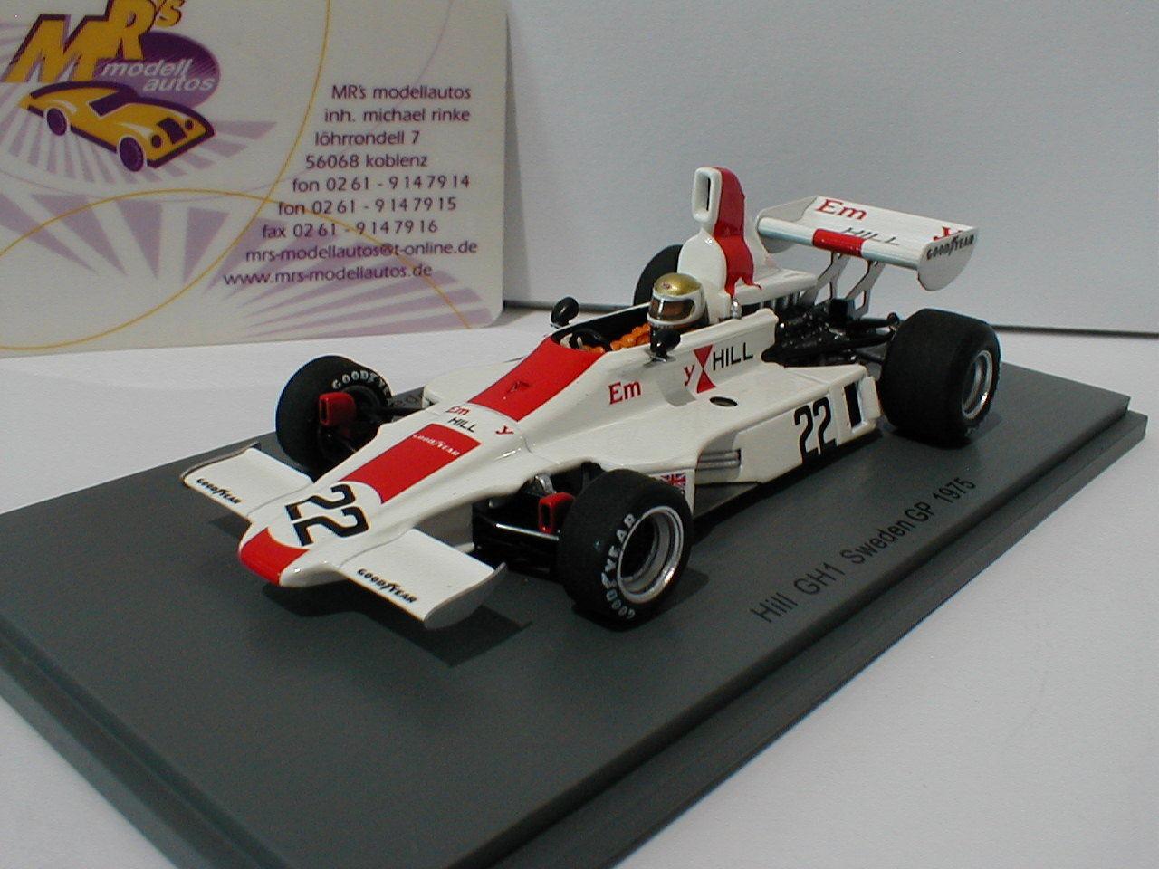 SPARK s5674-Hill gh1 n. 22 Svezia GP Formula 1 1975 Vern Schuppan 1 43 NUOVO