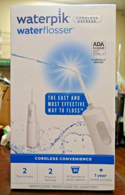 NEW!! Waterpik WATERFLOSSER Cordless Express - White WF-02W011 (9742)