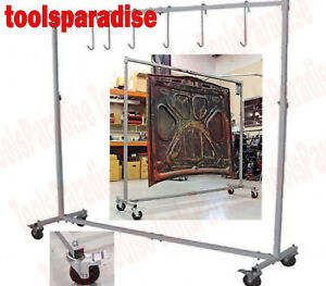 Image is loading AUTO-BODY-SHOP-Painting-Rack-HOOK-HANGER-STAND-  sc 1 st  eBay & AUTO BODY SHOP Painting Rack HOOK HANGER STAND Panel Hood Door ...