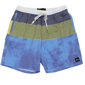 Oakley-Slicker-Boardshorts-Mens-Size-34-L-Navy-Blue-Casual-Beach-Shorts-Boardies