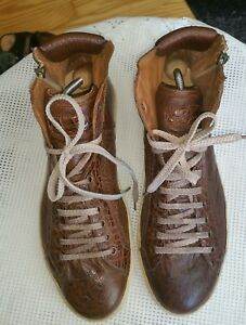 da Gr Scarpe High marrone 10 Top uk uomo Rosso 44 Sneaker Fiorentino S0E4Swtxqa