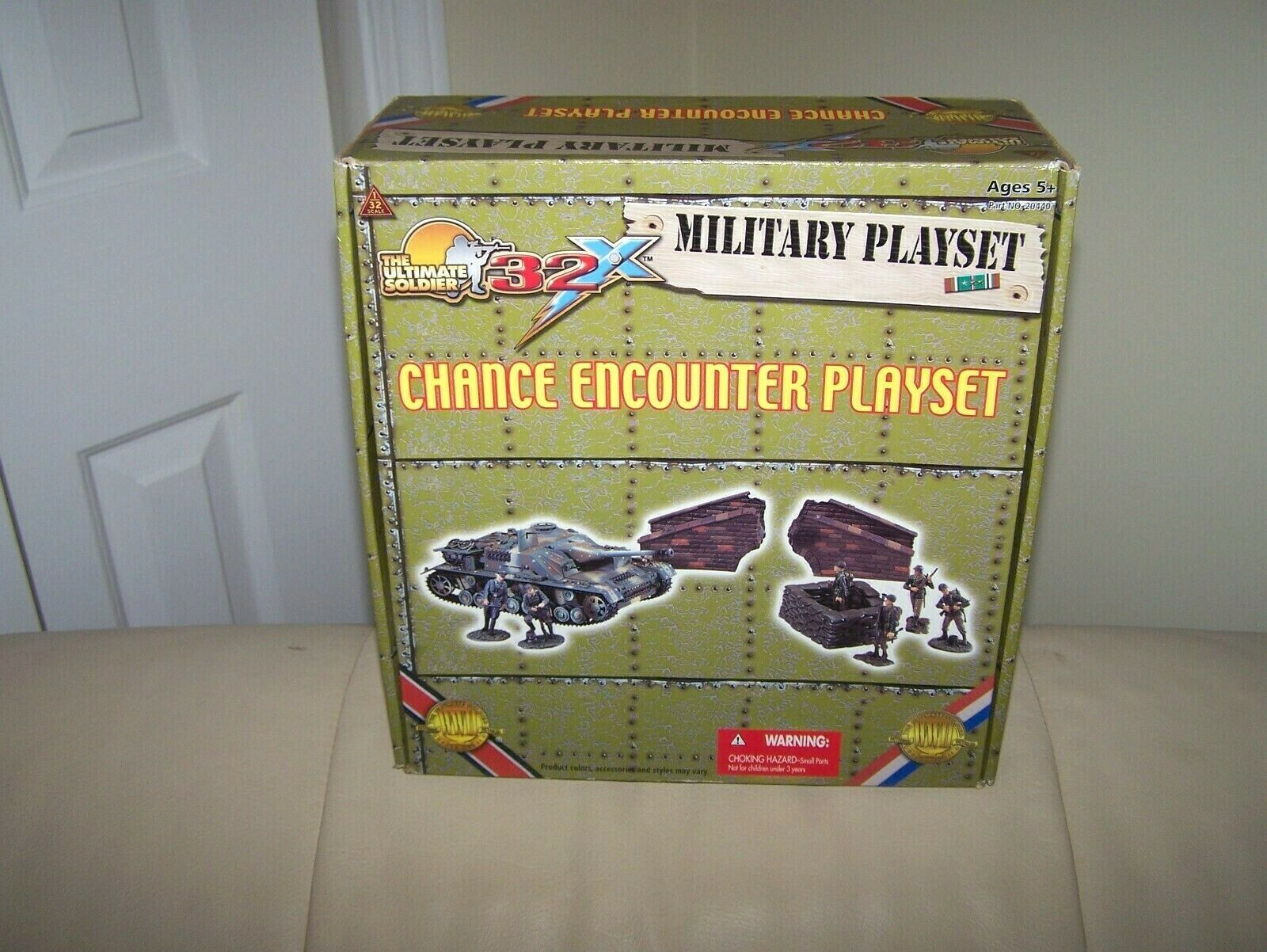 2004- ULTIMATE SOLDIER- CHANCE ENCOUNTER PLAYSET- FACTORY SEALED- MINT- 1 32