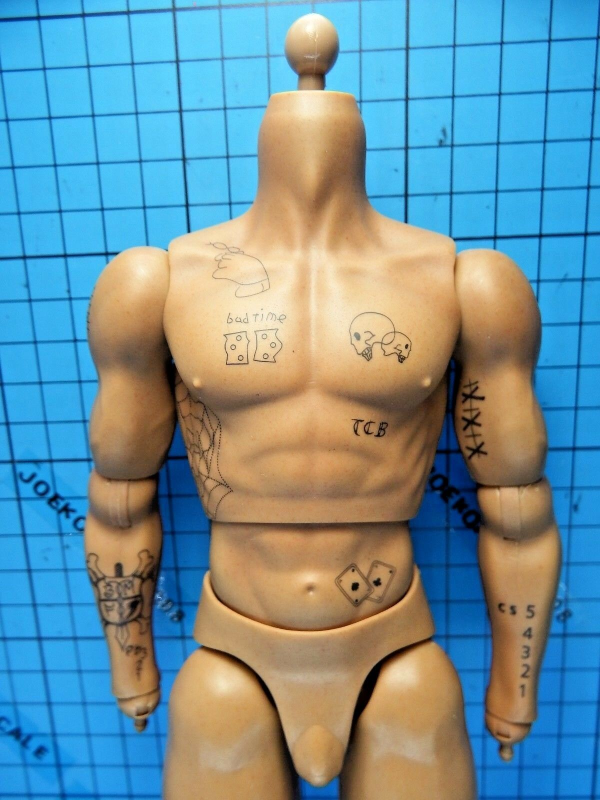 Pop Toys 1 1 1 6 EX004 Death Race Driver Frankenstein Figure - Tattoo Muscular Body f86027