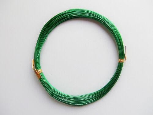 10mt  di filo in alluminio 0,8mm colore verde