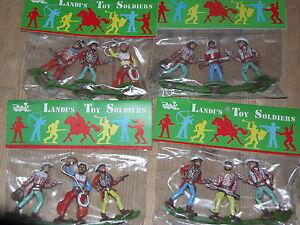 Lot 12 série Cow Boy Série complète soldat Chromoplasto Landi - Toy Soldiers-landi