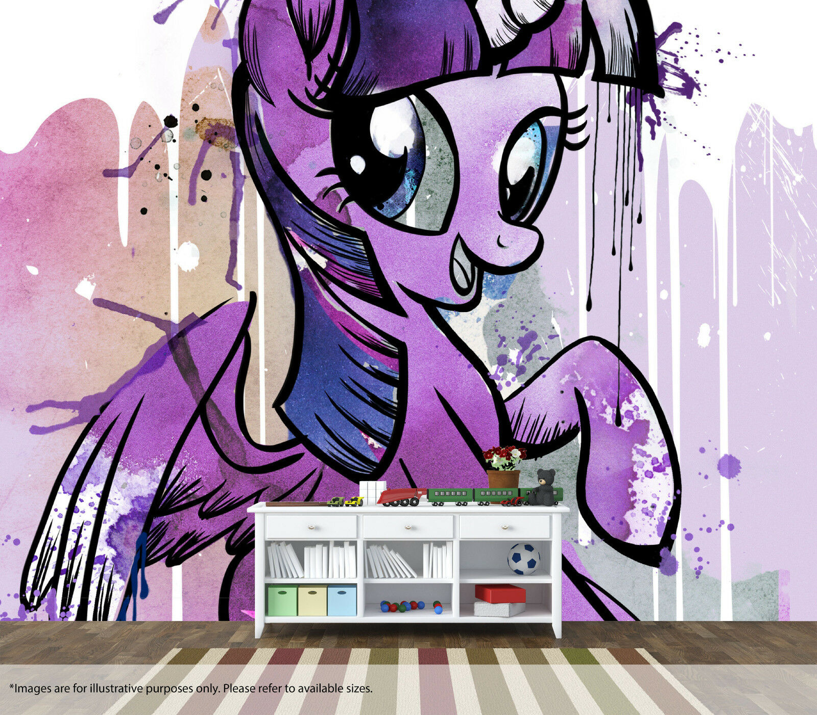 My Little Pony Twilight Sparkle Wall Mural Art Quality Pastable Wallpaper Decal