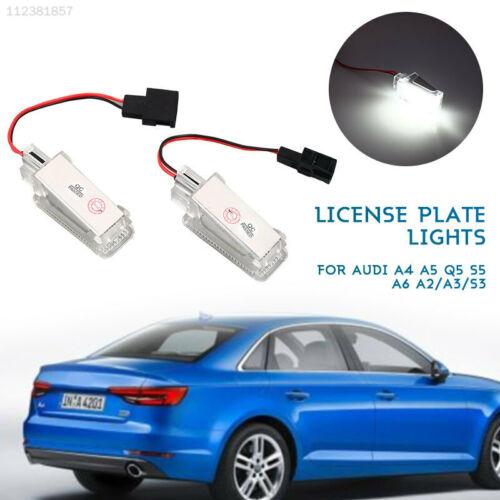 C7A4 2PCS Rear Lamp Super Bright License Plate Light LED Lamp 6500K DC12V