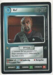 "Star Trek First Contact CCG Federation RARE Card ""Worf"""