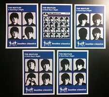Set of 5 BEATLES CLASSICS trade cards - A HARD DAY'S NIGHT - Blue series
