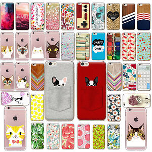 TPU-Case-Cover-SE-Funda-Carcasa-Slim-Pattern-Protective-For-iPhone-5s-6s-7-PLUS